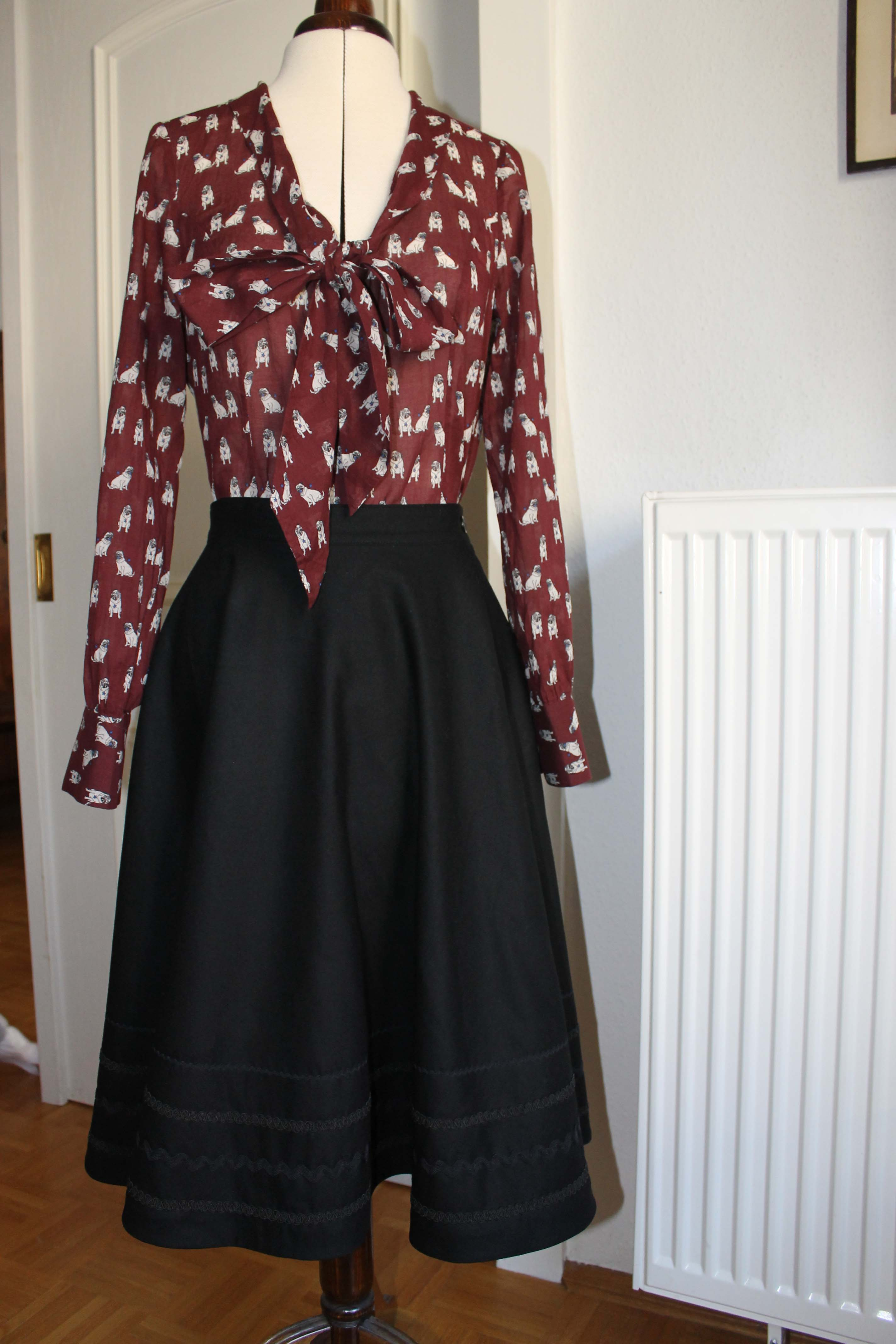 Pug Pussy Bow Blouse And Linda Skirt Sewing Projects