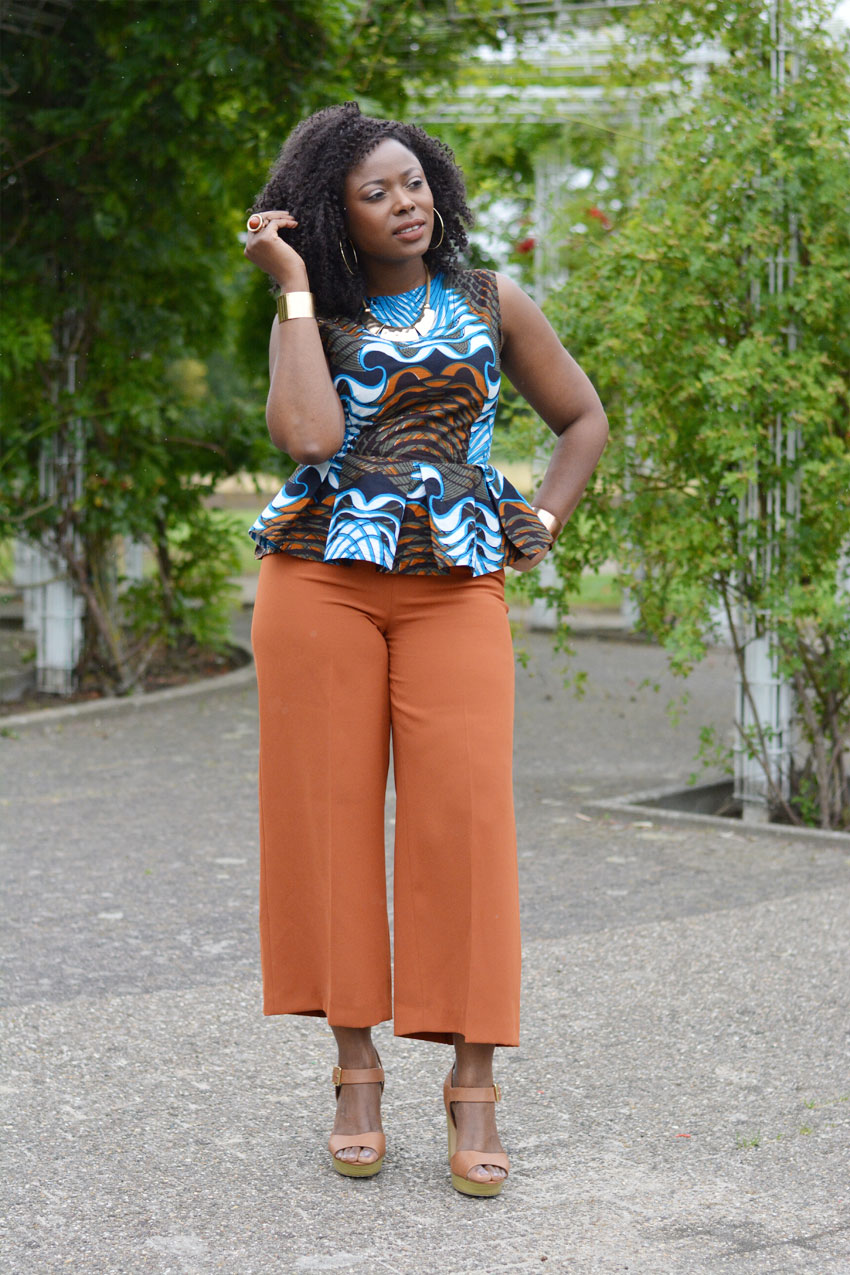 African print peplum top – Sewing Projects