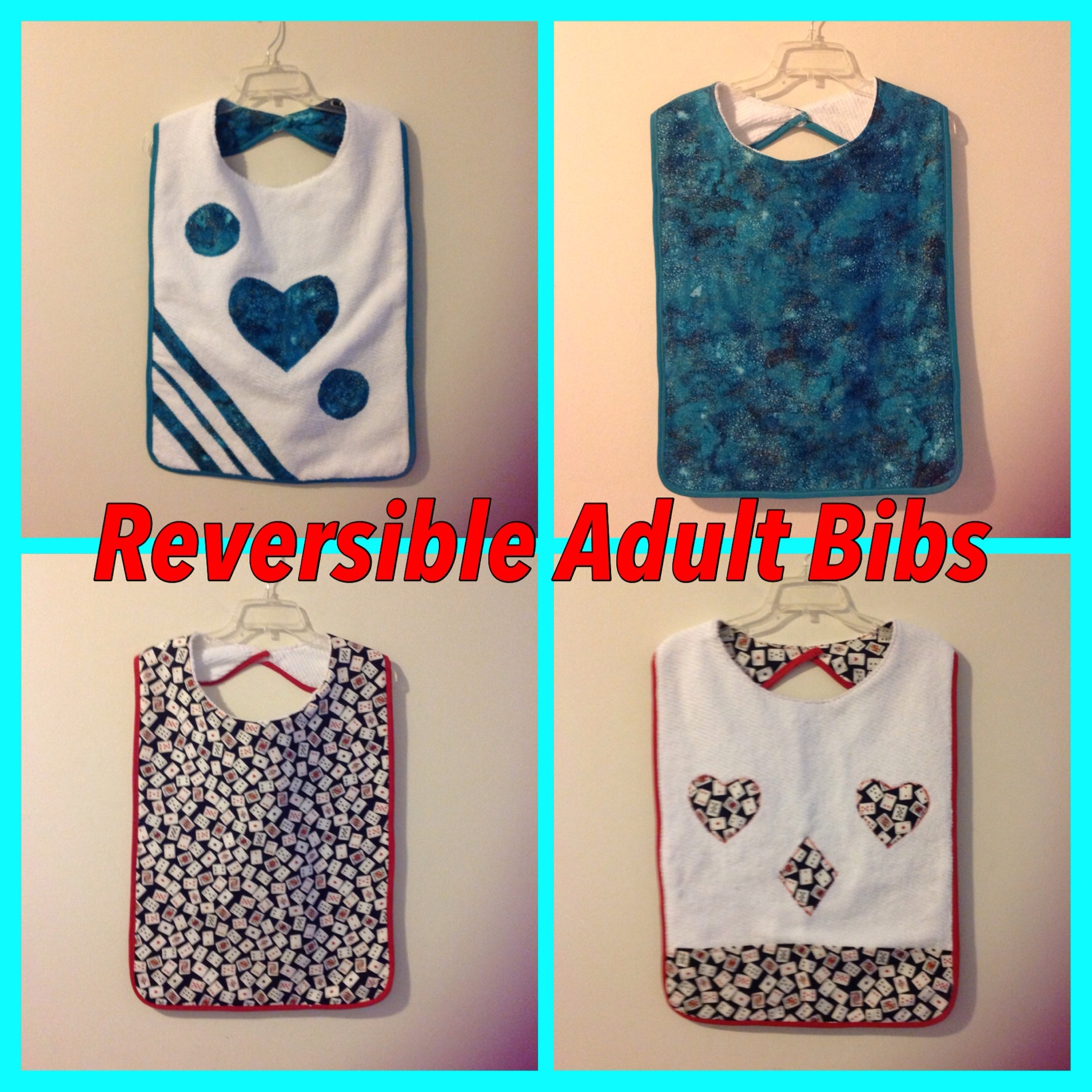 Reversible adult bibs – Sewing Projects