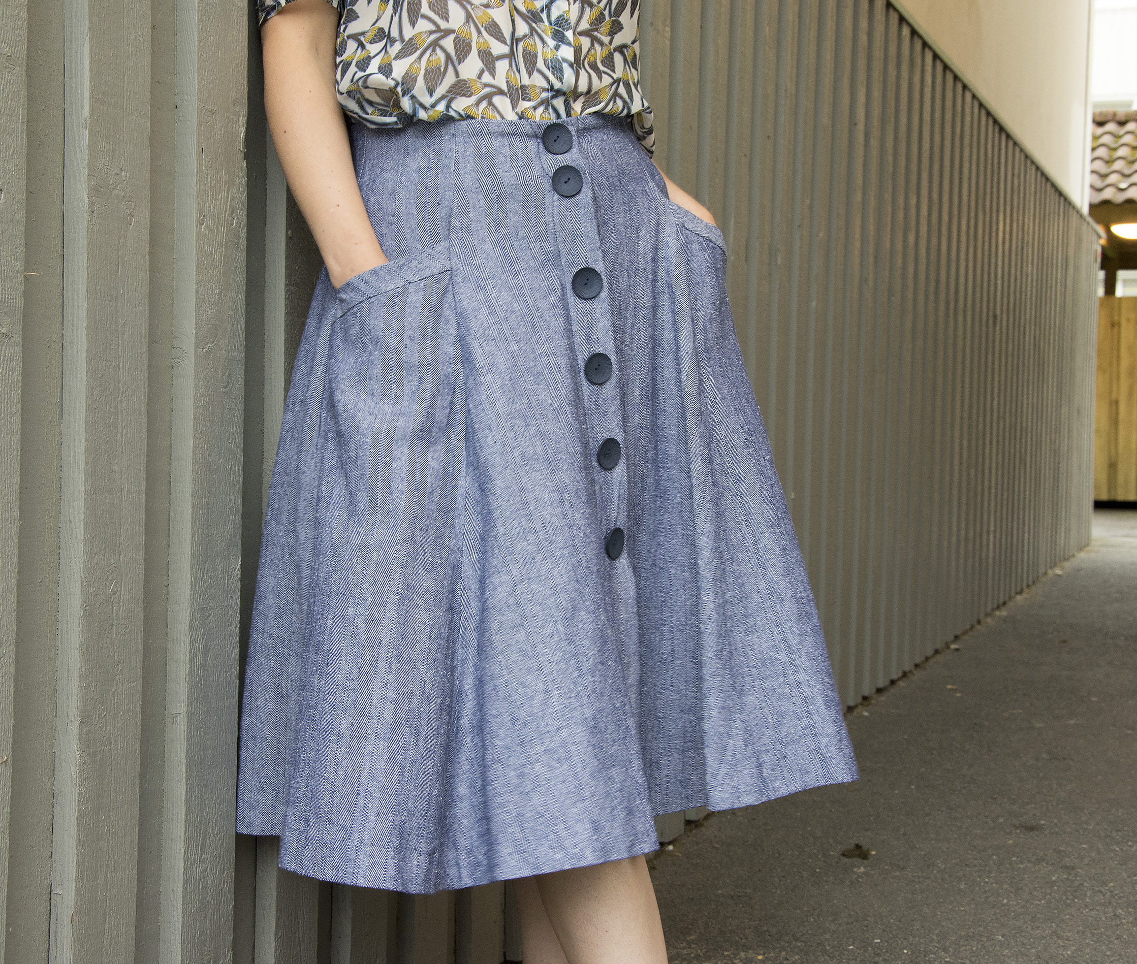 Burdastyle button front skirt – Sewing Projects ...