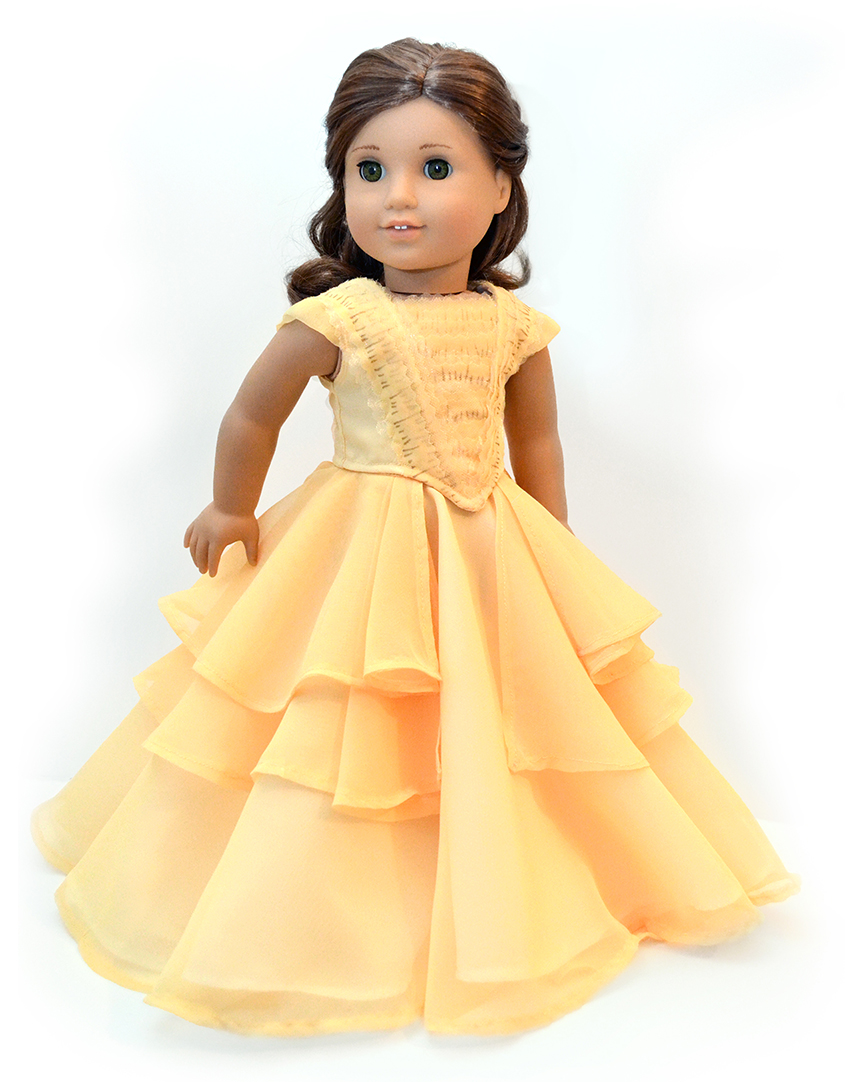 belle ball gown cosplay for 18 american girl dolls. Black Bedroom Furniture Sets. Home Design Ideas