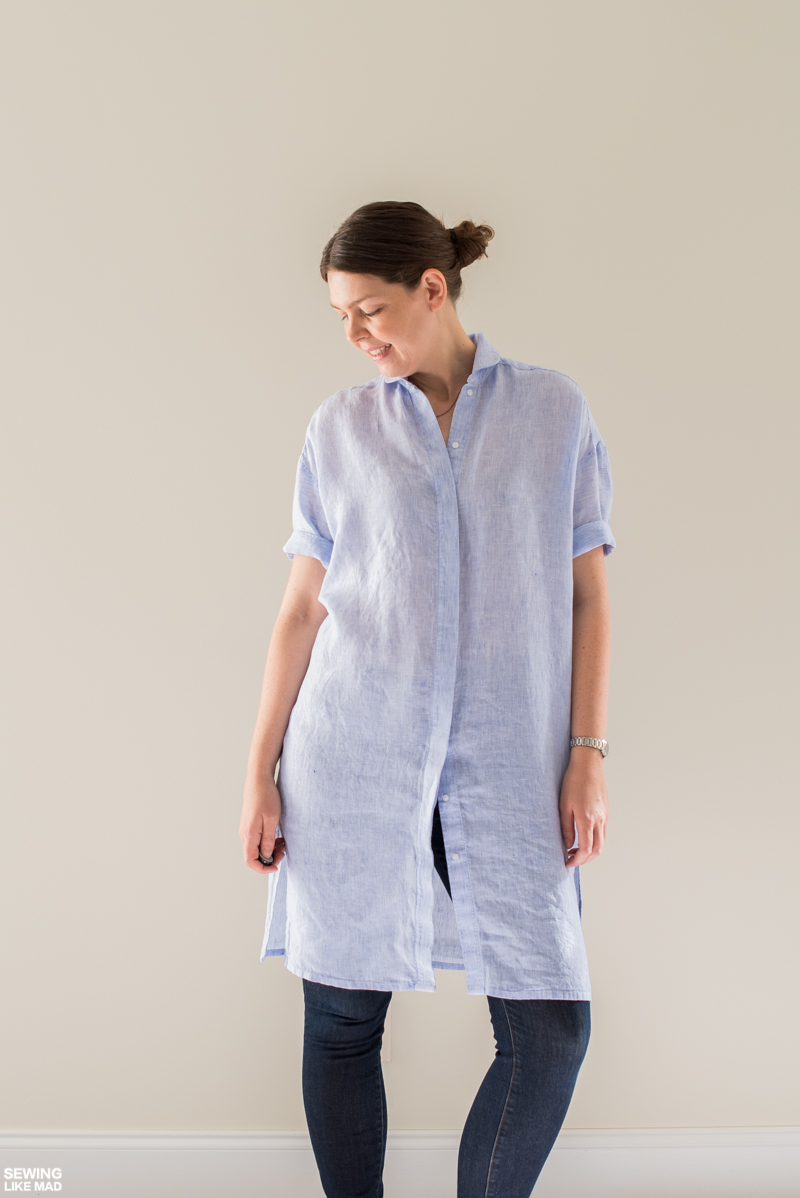 Oversized Linen Shirt Sewing Projects Burdastyle Com