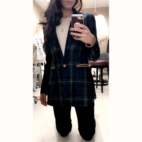 Christine_plaid_tartan_sports_jacket_dark_green_navy_blue_gold_mortan_check_coat_piccolas_anagrassia_cognac_leather_pockets_and_button_16_large