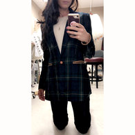Christine_plaid_tartan_sports_jacket_dark_green_navy_blue_gold_mortan_check_coat_piccolas_anagrassia_cognac_leather_pockets_and_button_16_listing