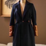 Navy_wool_jacket_coat_anagrassia_with_cognac_brown_leather_pleated_waist_burberry_stella_gucci_ralph_lauren_designer_bergdorf_goodman_designer_outerwear_best_meghan_markle_2_listing