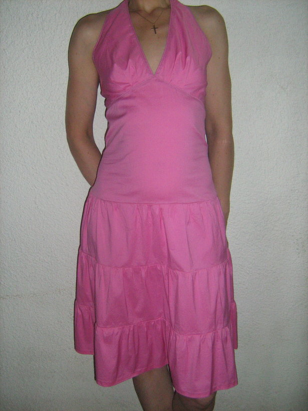 The Projection Of The Sewing Patterns On The Dressdummy Halter Dress